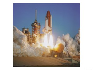 space-shuttle-lifting-off-launch-pad-posters